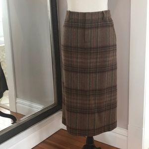 Ralph Lauren wool midi pencil skirt
